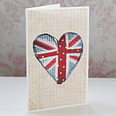 Union Jack Heart Best Of British Card