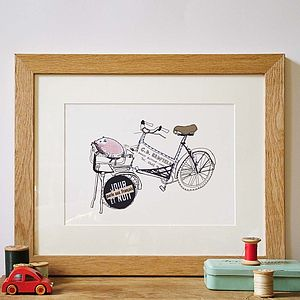 Bicycle Hand Drawn Illustration Print - drawings & illustrations