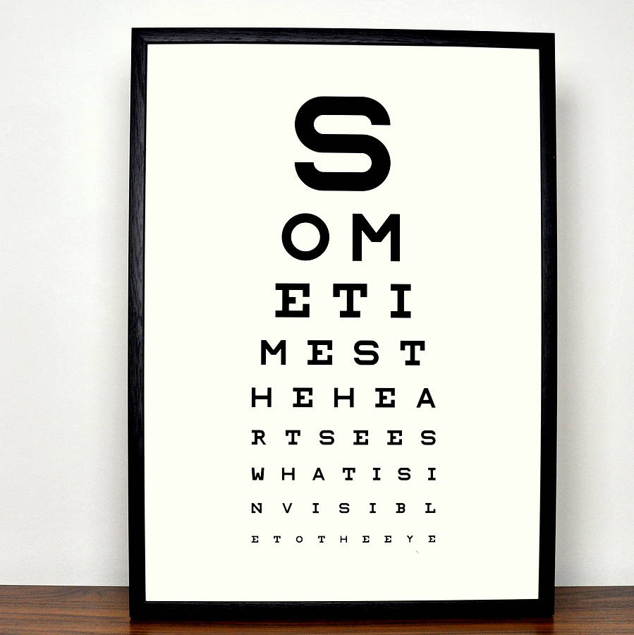 Personalised Eye Chart Fine Art Print By Magnolia Box