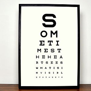 Personalised Eye Chart Fine Art Print