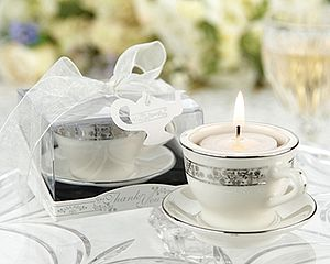 Teacup Candle Holder Wedding Favour - table decorations