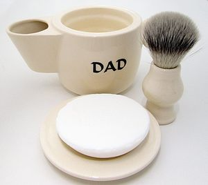 'Dad' Shaving Scuttle Mug Bowl - men's grooming