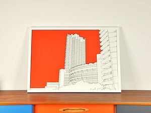 Barbican Cromwell Tower Print - posters & prints