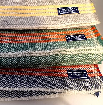 Striped wool scarves