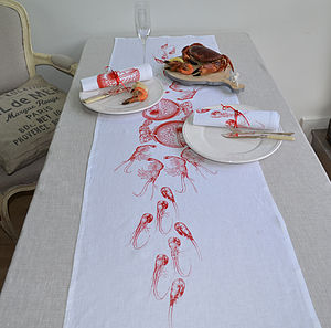 Shell Fruits De La Mer Table Runner - table linen