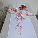 Shell Fruits De La Mer Table Runner Orange