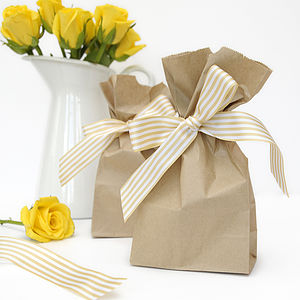 Tall Paper Bags - table decorations