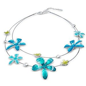 Enamel Multi Flowered Necklace - necklaces & pendants