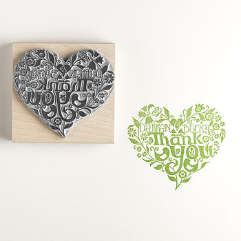 Personalised Thank You Rubber Stamp