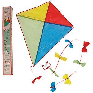 Vintage Style Traditional Diamond Kite - outdoor toys & games