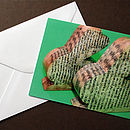 Rabbit Book Greeting Card