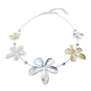 Enamel Flower And Ball Necklace - necklaces & pendants