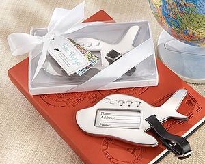 'Bon Voyage' Airplane Luggage Tag - wedding favours