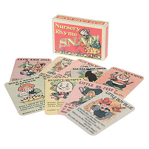 Vintage Style Nursery Rhyme Snap Cards - toys & games