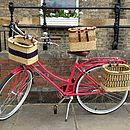 Square Handmade Bicycle Basket From Ghana