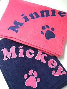 Personalised Dog Blanket - dogs