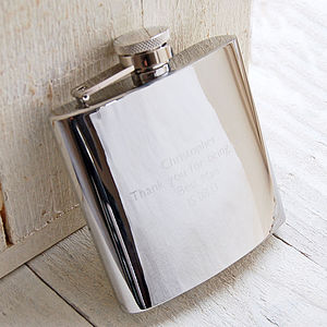 Engraved Hip Flask - garden & outdoors