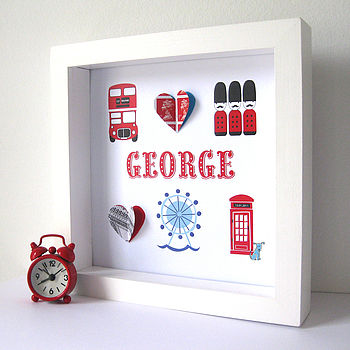 Personalised London Baby Boy Artwork
