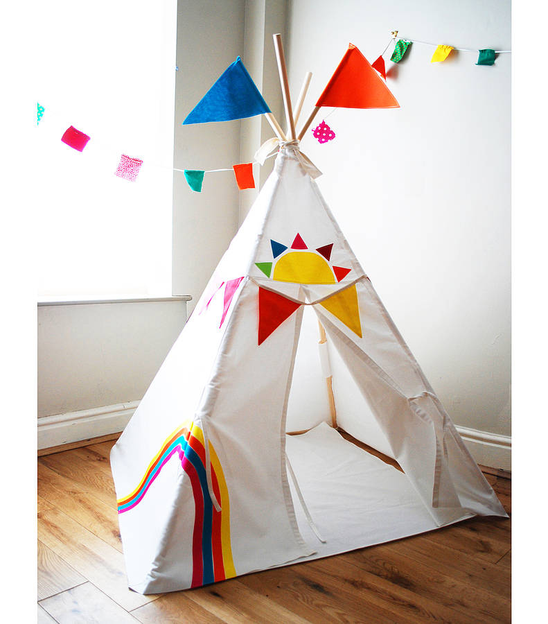 Rainbow teepee by wild things funky little dresses Wigwam childrens play tents  sc 1 st  Infreshhome.com & Wigwam Childrens Play Tents - Home Design u0026 Architecture ...