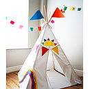 Personalised Rainbow Teepee