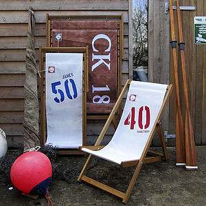 Personalised Recycled Sailcloth Deck Chair - 50th birthday gifts