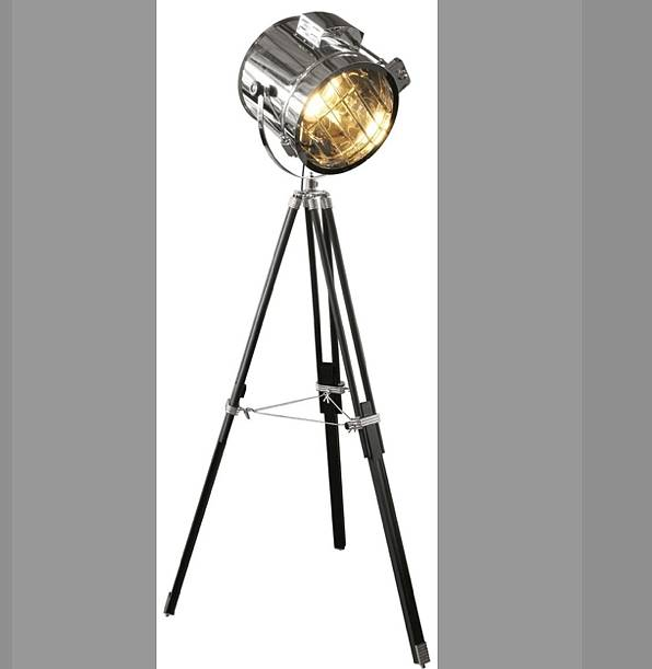 Standing Tripod Hollywood Industrial Floor Studio Lamp By