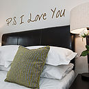 'P S I Love You' Wall Sticker Quote