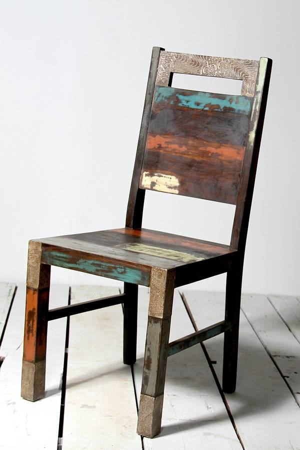 Mary Rose Upcycled Dining Chair By Little Tree Furniture