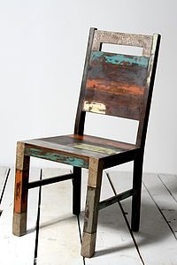 Mary Rose Upcycled Dining Chair - chairs