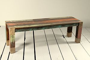 Mary Rose Upcycled Bench Medium Or Large - furniture