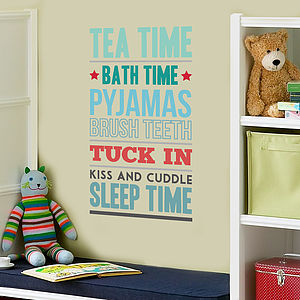 'Tea Time' Vinyl Wall Sticker - children's room accessories