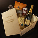 Personalised Food Lovers Champagne Gift Box