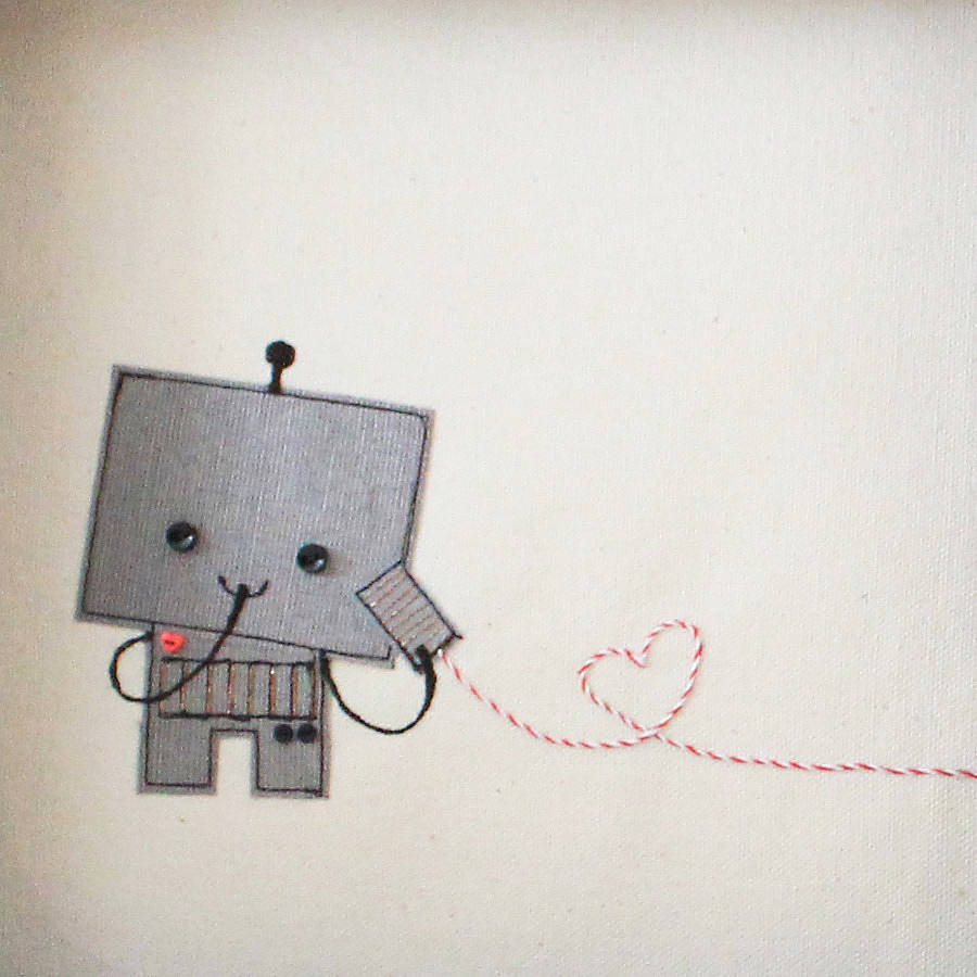 cute Robot Love Drawing www.pixshark.com - Images Galleries With A Bite!