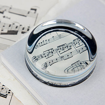 Music Score Sheet Paperweight
