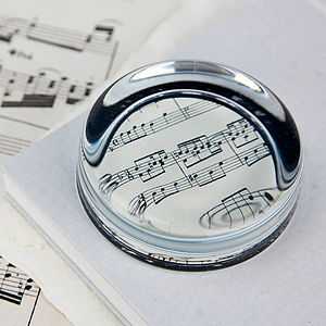Music Score Sheet Paperweight - paperweights