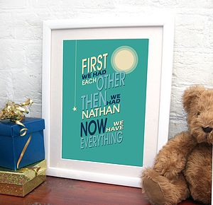 Personalised New Baby Print - baby's room