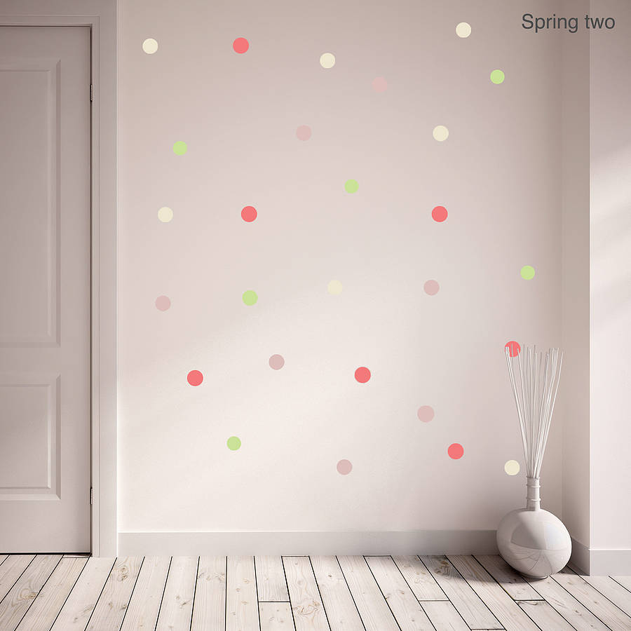 Spring Polka Dot Wall Sticker Set