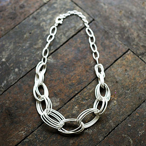 Arriane Chain Link Necklace - necklaces & pendants