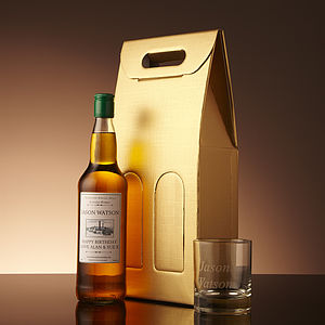 Personalised Whisky With Engraved Tumbler - for grandfathers