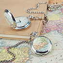 Map Personalised Location Pocket Watch Clock