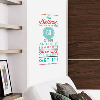 'If You Believe' Vinyl Wall Sticker