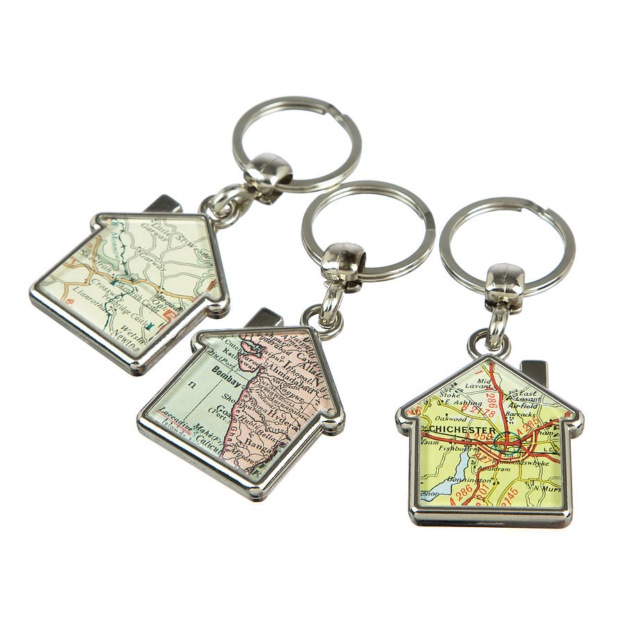Map double sided personalised keyring house by ellie ellie map double sided personalised keyring house gumiabroncs Image collections