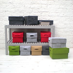 Set Of Two Felt Boxes - storage boxes & baskets