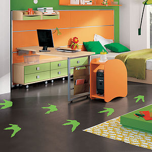 Footprint Vinyl Sticker Set - wall stickers