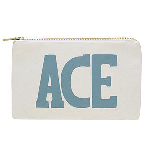 'Ace' Little Canvas Pouch - bags & purses