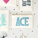 'Ace' Little Canvas Pouch