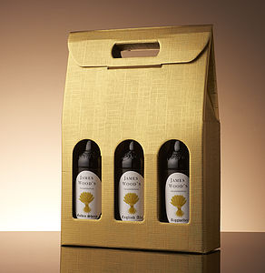Personalised Real Ale Trio - gifts for him