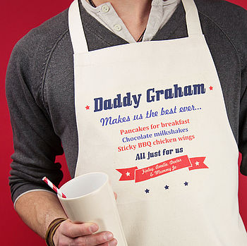 Personalised American Diner Apron