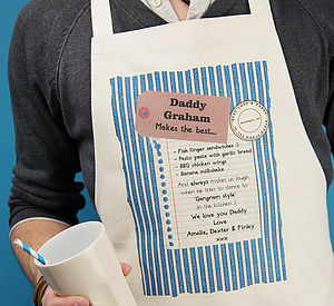 Personalised 'Makes The Best' Apron
