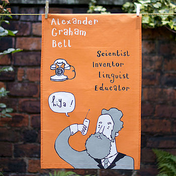 Alexander Graham Bell Tea Towel